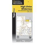National Geographic TI00000711 Map Of High Uintas Trail - Utah