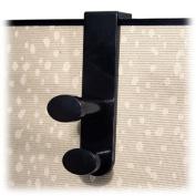 Advantus Corp. AVT40802 Garment Hook- Plastic- Double Hook- 1-.88in.x3-.25ft.x7-.75in.- BK