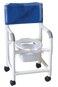 MJM International 118-3-SQ-PAIL Shower- Commode Chair