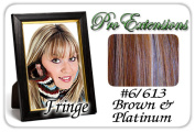 Brybelly Holdings PRFR-6613 No. 6-613 Chestnut Brown & Platinum Highlights Clip In Bangs