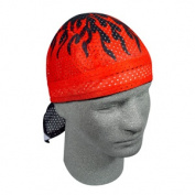 Zan Headgear ZX227 Vented Flydanna 100 Percent Polyester Mesh Flames Red