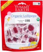 Yummy Earth 0157396 Organic Pomegranate Pucker Lollipops - 360ml