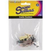 Scene Setters(R) Figurines-Castle Dwellers approx 3.8cm 5/Pkg