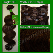 Brybelly Holdings PRBD-20-4 No. 4 Chocolate Brown - 50cm Body Wave