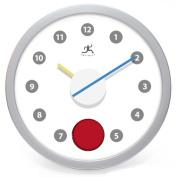 Infinity Instruments 13388SV-3475 30cm Round Red Eye Clock