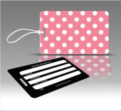 Insight Design 770679 TagCrazy Luggage Tags- Pink and White Polka Dots- Set of Three