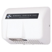 Excel Dryer RH76-W Cast Cover Series Hands Off Automatic Sensor Recessed Mounted Hair Dryer - White Epoxy