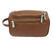 Piel Leather 9436 U-Zip Toiletry Kit - Saddle
