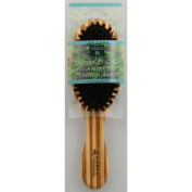Earth Therapeutics 1019496 Regular Bamboo Natural Bristle Cushion Brush - 1 Brush