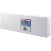"Smooth Foam Block 5.1cm x 10cm X12"" 1/Pkg-White"
