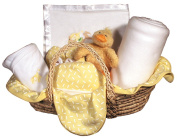 Raindrops Sleepy Time Bear Moses Basket Blanket Gift Set, Yellow