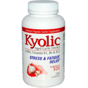 Kyolic 0318006 Aged Garlic Extract Stress and Fatigue Relief Formula 101 - 200 Capsules