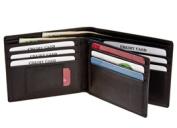Rogue Wallet WALBIFOLDBLK11 Rectangular With 10 Credit Card Slots 1 Id Slot & 1 Micro Slot