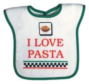 Dee Givens & Co-Raindrops 6973 I Love Pasta Medium Bib - Green