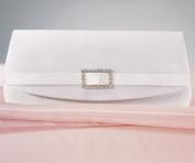 Weddingstar 6160 White Satin Crystal Buckle Evening Bag