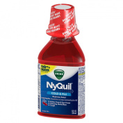 NyQuil Cold & Flu Cherry Nighttime Relief - 12 fl oz
