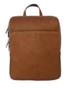 Piel Leather 2401 Slim Front Pocket Backpack - Saddle