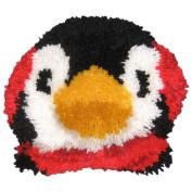 M C G Textiles 400642 Huggables Penguin Pillow Latch Hook Kit-30cm . x 25cm .