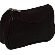 Piel Leather 2845-CHC Carry-All Zip Pouch - Chocolate