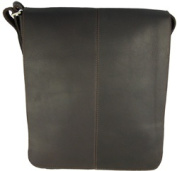 David King & Co 145C Small Vertical Messenger Bag- Cafe