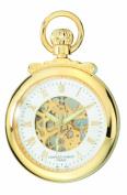 Charles-Hubert Paris 3903-G Gold-Plated Brass Open Face Mechanical Pocket Watch