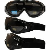 Pacific Coast Sunglasses Inc. 4580PCS RPM Value Riding Goggles with Black Frame and Smoke Lens