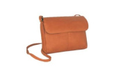 David King& Co 521T Flap Front Mini Bag- Tan