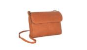 David King& Co 521T Flap Front Mini Bag- Tan