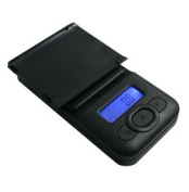 American Weigh Pocket Scale Back-Lit LCD Screen, Removable Protective Cover V2-600, Black