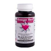 Kroeger Herb 0419853 Black Radish and Parsley - 100 Capsules