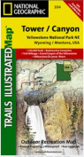 National Geographic TI00000304 Map Of Yellowstone NE-Tower-Canyon - Wyoming
