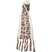 Nirvanna Designs SC07 Flower Crochet Multi Colour Scarf