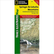 National Geographic Maps TI00000777 Springer and Cohutta Mountains Chattahoochee National Forest Map
