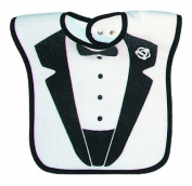 Dee Givens & Co-Raindrops 6647 Tuxedo Jacket Medium Bib - Black