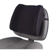 Fellowes Mfg. Co. High-Profile Backrest with Soft Brushed Cover
