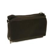 Piel Leather 2860-CHC Shoulder Bag-Wristlet - Chocolate