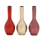 Woodland Import 50613 Lacquer Vase Assorted Is Durable Long and Lasting - Set of 3