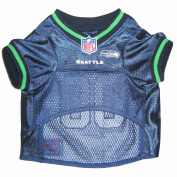 Pets First SSJ-M Seattle Seahawks NFL Dog Jersey - Medium