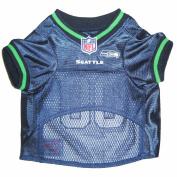 Pets First SSJ-M Seattle Seahawks NFL Dog Jersey - Medium
