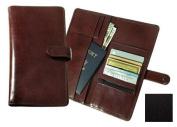 Raika TN 117 BLK Deluxe Travel Wallet with Snap Closure - Black