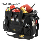 Custom LeatherCraft 1534 16 Tote Bag with Top Plastic Tray