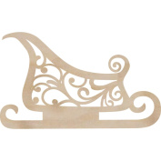 Kaisercraft 270243 Wood Flourishes-Sleigh