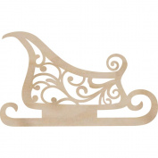 Kaisercraft 270243 Wood Flourishes-Sleigh