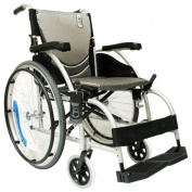 Karman Healthcare S-Ergo105F18SS Ergonomic Wheelchair-Pearl Silver