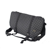 Blancho Bedding MB-L8028-BLACK Lucky Star - Black Multi-Purposes Messenger Bag / Shoulder Bag
