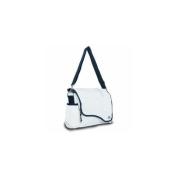 Sailor Bags 321-WB Messenger Bag, White with Blue Trim