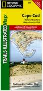 National Geographic TI00000250 Map Of Cape Cod National Seashore - Massachusetts