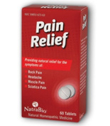 Natra-Bio 0737718 Pain Relief - 60 Tablets