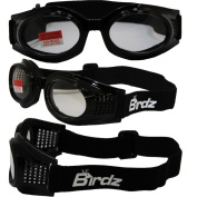 Birdz KITECL Birdz Kite Black Frame Motorcycle Goggles with Clear Bifocal Shatterproof Anti-Fog Polycarbonate Lenses and Vented Open Cell Foam