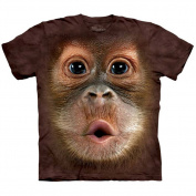 Mountain Corp 1535870 Big Face Baby Orangutan - Kids Small T-Shirt